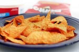 Are baked tortilla chips healthier than their fried counterparts?
