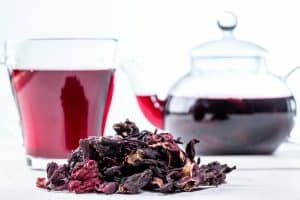 To cut back on caffeine can I replace coffee with hibiscus tea during pregnancy?