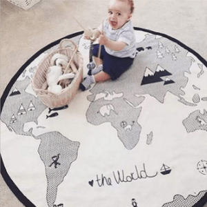 World Map Pattern Baby Crawling Mats