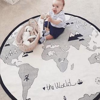 World Map Pattern Baby Crawling Mats