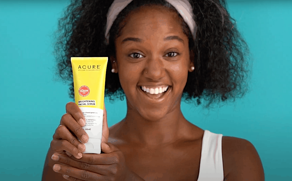 Acure Brightening Facial Scrub |100% Vegan